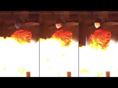 必赢网站™ Thermo-Man® 测试:Nomex® 阻燃口罩 vs 非阻燃口罩