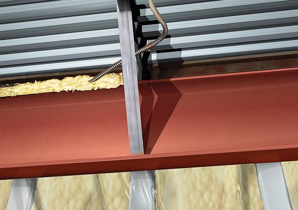 DuPont™ Froth-Pak™ Foam Insulation sealing gap in transition