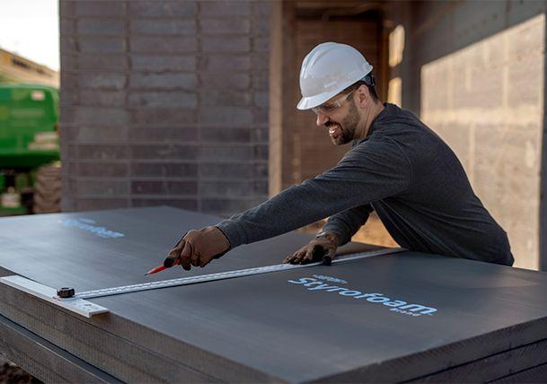 Preparing DuPont™ Styrofoam™ for installation