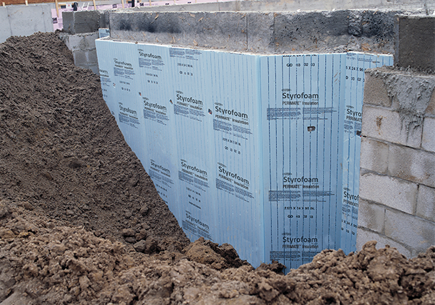 Styrofoam™ Brand Perimate™ installed below-grade