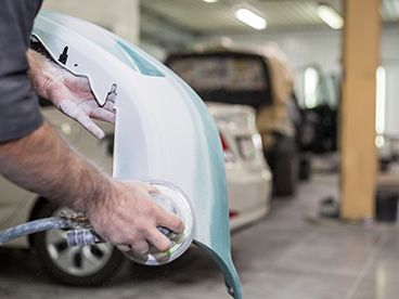 Buffing a fender