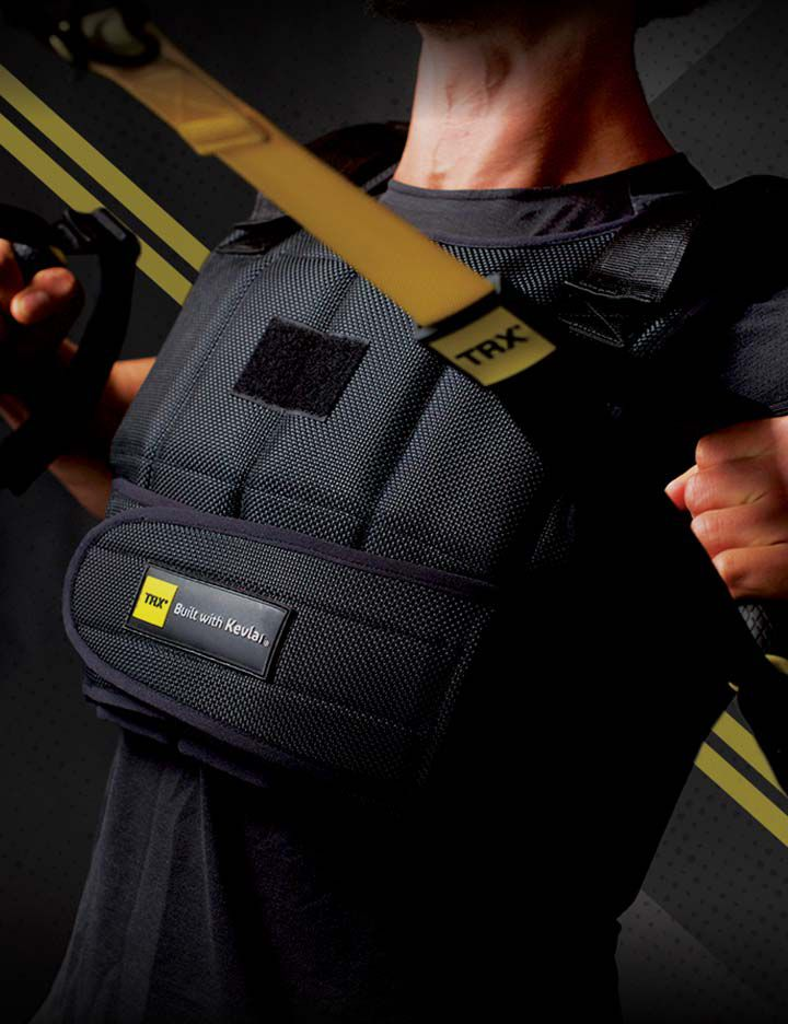 TRX® weighted vest utilizing the durability of Kevlar®