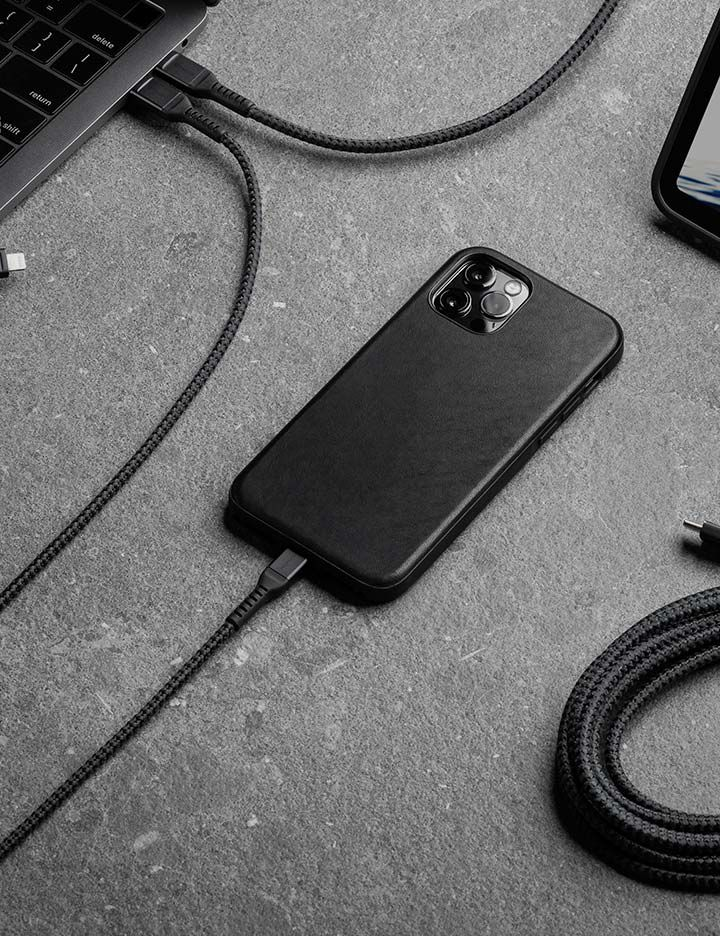 Kevlar® providing durability in a variety of Nomad® cell phone charging cables