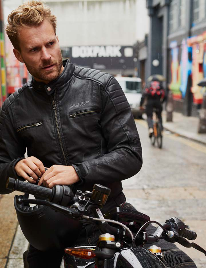 Motorcycle jacket from the RST Moto Built With Kevlar® collection
