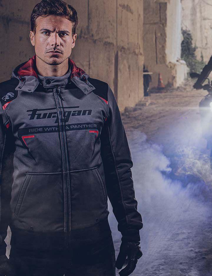 Kevlar® providing superior abrasion resistance in Furygan men's motorcycle apparel