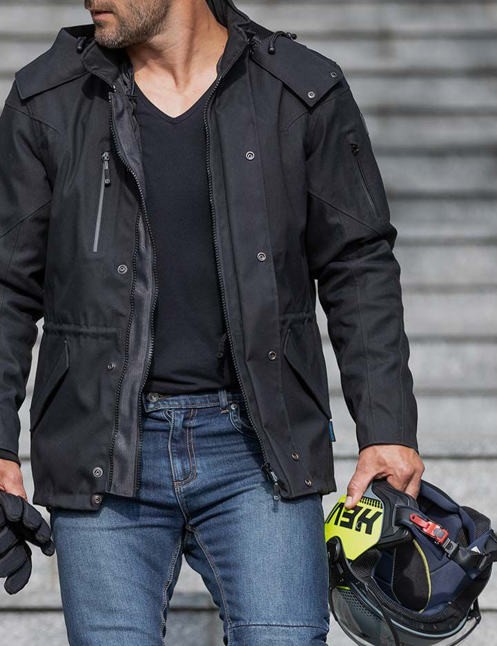 Durable Hevik men's motorcycle apparel made with Kevlar®