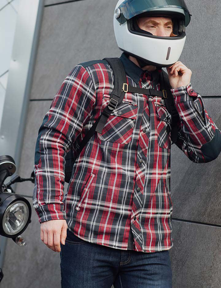 Merlin men's motorcycle apparel with built-in Kevlar® protection