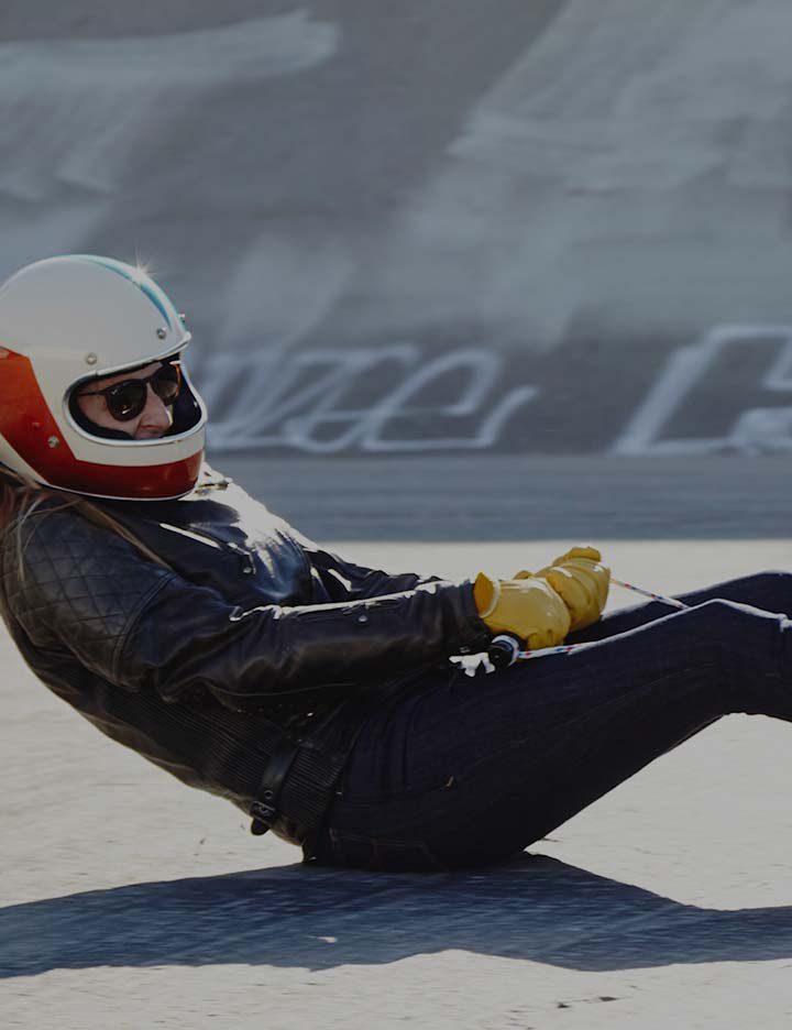Kevlar® abrasion resistance being utilized in men's protective motorcycle jeans made by Tobacco