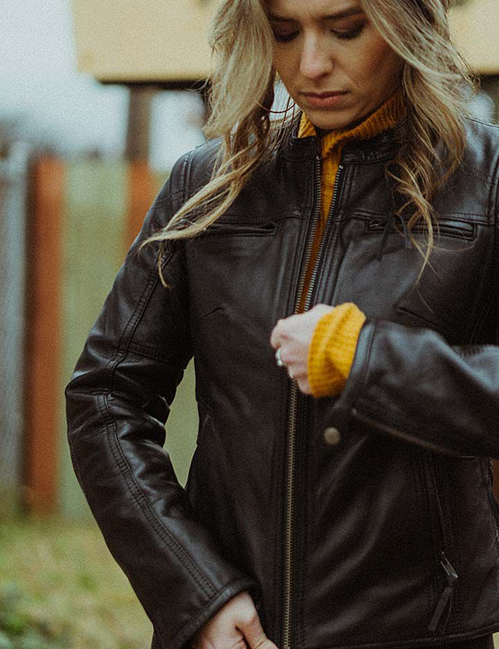 Women's motorcycle apparel from First MFG CO made with Kevlar®