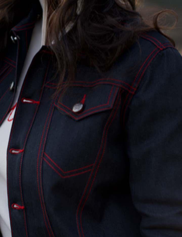 Gigi Montrose women's motorcycle jacket made with Kevlar®