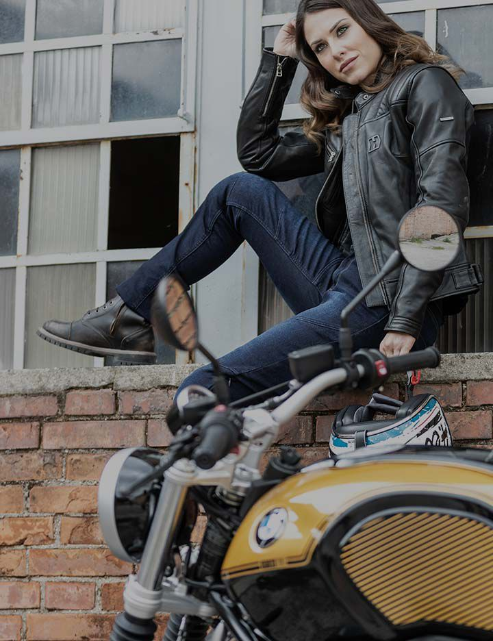 Durable Hevik women's motorcycle apparel made with Kevlar®