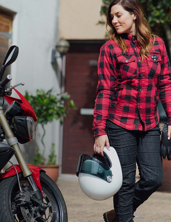 Merlin women's motorcycle apparel with built-in Kevlar® protection