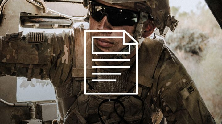 Military personnel in vehicle protected by Tensylon®