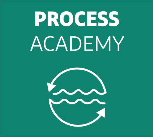 DuPont Water Solutions Process Academy logo with process arrows around water stream.
