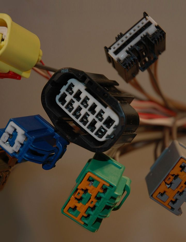 Close up image of hydrolysis resistant connectors plugged into ports