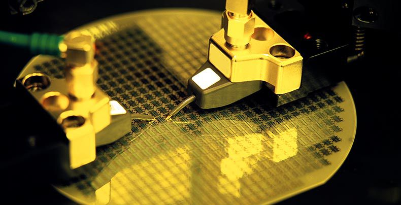 Close-up image of next generation electrical semiconductor