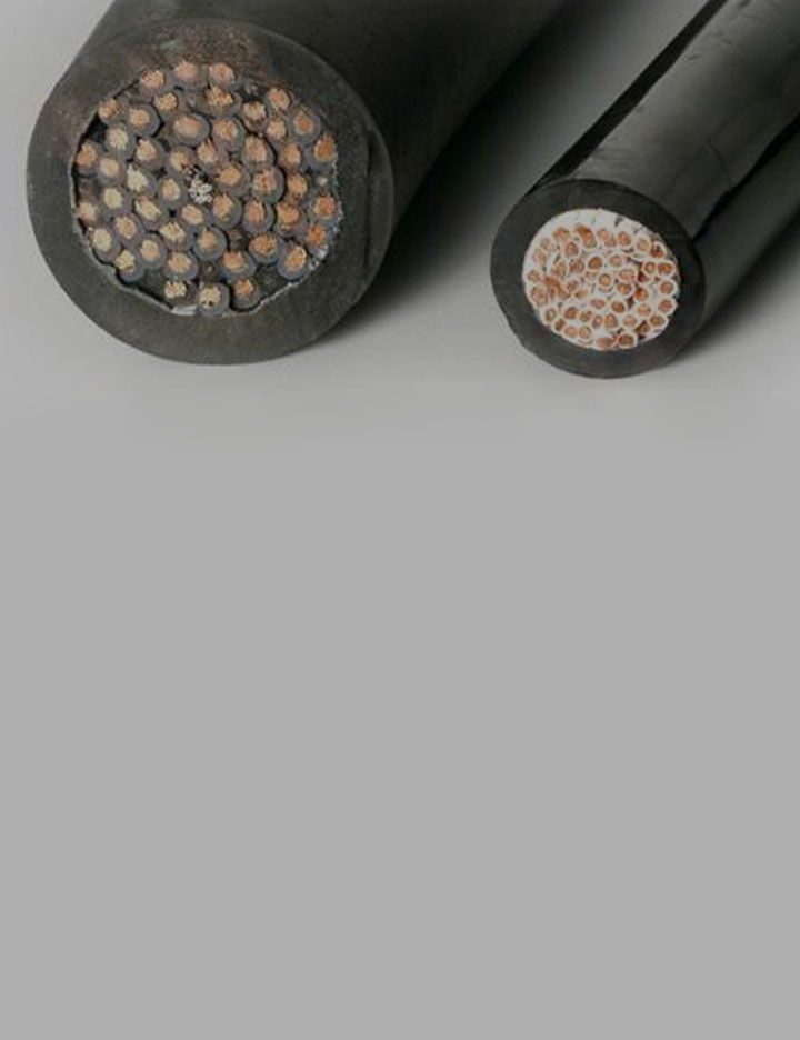 Close up cross-section image of wire and cable insulation materials exemplifying DuPont high-flex cable solutions for bridges