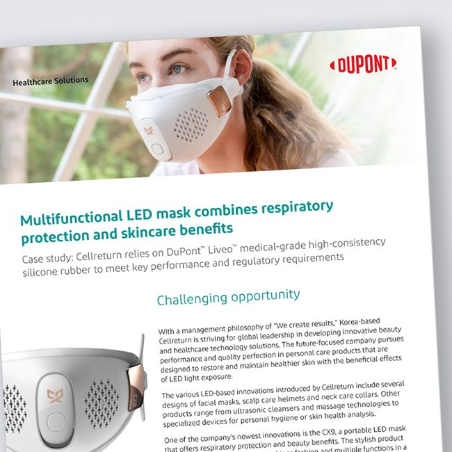 Cellreturn relies on DuPont™ Liveo™ medical-grade silicone HCR