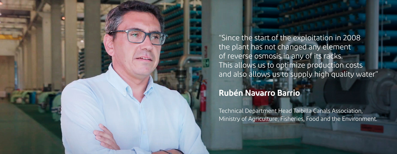 Rubén Navarro, Technical Leader, Mancomunidad de los Canales del Taibilla