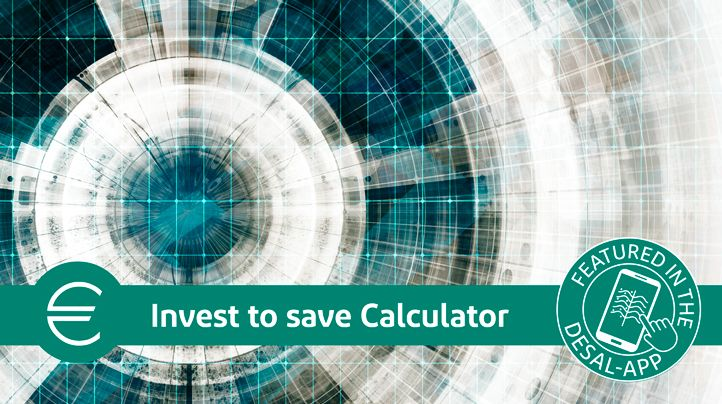 Invest to Save Calculator is a part of the Desalination App.