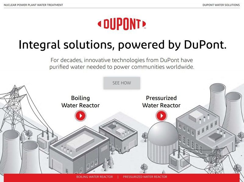 Interactive PDF cover will illustration of water reactors in a nuclear power generation plant
