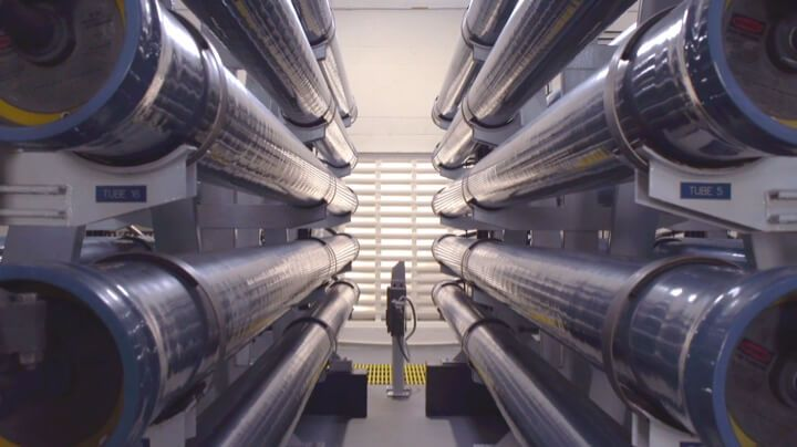 FILMTEC™ reverse osmosis (RO) elements installed in the municipal water treatment plant on Sanibel Island, FL (US)