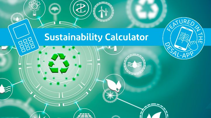 Sustainability calculator is a part of the Desalination app.