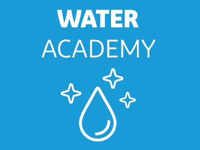 DuPont Water Solutions Water Academy logo with drop of water