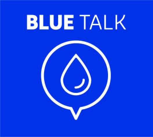 DuPont Water Solutions Blue Talk logo with conversation bubble and water drop