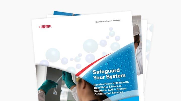 Cover of the DuPont Water Solutions System Optimization Services brochure